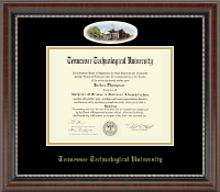 Tennessee Technological University Diploma Frame - Campus Cameo Diploma Frame in Chateau