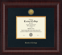 Central College Diploma Frame - Presidential Gold Engraved Diploma Frame in Premier