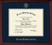 Frank Phillips College Diploma Frame - Gold Embossed Diploma Frame in Camby