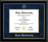 Duke University Diploma Frame - Heirloom Edition Diploma in Onyx Gold