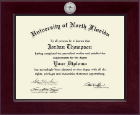 University of North Florida Diploma Frame - Century Silver Engraved Diploma Frame in Cordova