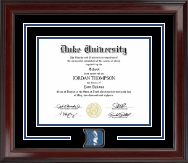 Duke University Diploma Frame - Spirit Medallion Diploma Frame in Encore