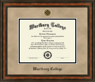 Wartburg College Diploma Frame - Heirloom Edition Diploma Frame in Ashford