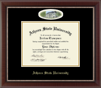 Athens State University Diploma Frame - Campus Cameo Diploma Frame in Chateau