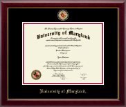University of Maryland, College Park Diploma Frame - Masterpiece Medallion Diploma Frame in Gallery