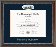 University of Florida Diploma Frame - Campus Cameo Diploma Frame in Chateau