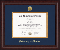 University of Florida Diploma Frame - Presidential Gold Engraved Diploma Frame in Premier