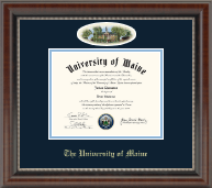 The University of Maine Orono Diploma Frame - Campus Cameo Diploma Frame in Chateau
