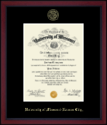 University of Missouri Kansas City Diploma Frame - Gold Embossed Achievement Edition Diploma Frame in Academy