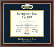 The University of Texas Arlington (UTA) Diploma Frame - Campus Cameo Diploma Frame in Chateau