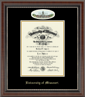 University of Missouri Columbia Diploma Frame - Campus Cameo Diploma Frame in Chateau