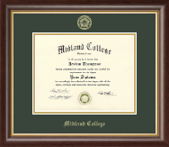 Midland College Diploma Frame - Gold Embossed Diploma Frame in Hampshire