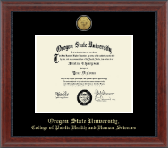 Oregon State University Diploma Frame - Gold Engraved Medallion Diploma Frame in Signature