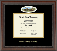 Grand View University Diploma Frame - Campus Cameo Diploma Frame in Chateau