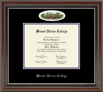 Mount Union College Diploma Frame - Campus Cameo Diploma Frame in Chateau