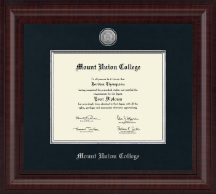 Mount Union College Diploma Frame - Presidential Silver Engraved Diploma Frame in Premier