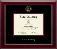Tabor Academy Diploma Frame - Gold Embossed Diploma Frame in Gallery