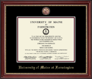 University of Maine Farmington Diploma Frame - Masterpiece Medallion Diploma Frame in Kensington Gold