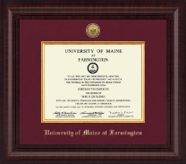 University of Maine Farmington Diploma Frame - Presidential Gold Engraved Diploma Frame in Premier