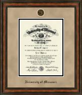 University of Missouri Columbia Diploma Frame - Heirloom Edition Diploma Frame in Ashford
