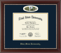 Utah State University Diploma Frame - Campus Cameo Diploma Frame in Chateau