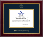 Mercersburg Academy Diploma Frame - Gold Embossed Diploma Frame in Gallery