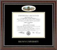 Brown University Diploma Frame - Campus Cameo Diploma Frame in Chateau