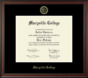 Maryville College Diploma Frame - Gold Embossed Diploma Frame in Studio