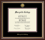 Maryville College Diploma Frame - Gold Engraved Medallion Diploma Frame in Hampshire
