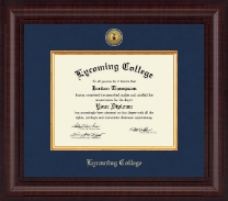 Lycoming College Diploma Frame - Presidential Gold Engraved Diploma Frame in Premier