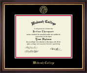 Wabash College Diploma Frame - Gold Embossed Diploma Frame in Regency Gold