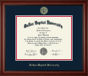 Dallas Baptist University Diploma Frame - Gold Embossed Diploma Frame in Cambridge