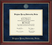 Brigham Young University Idaho Diploma Frame - Masterpiece Medallion Diploma Frame in Kensington Gold