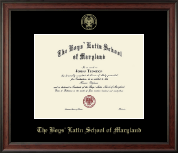 The Boys' Latin School of Maryland Diploma Frame - Gold Embossed Diploma Frame in Studio