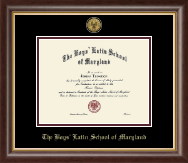 The Boys' Latin School of Maryland Diploma Frame - Gold Engraved Medallion Diploma Frame in Hampshire