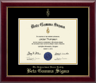 Beta Gamma Sigma Certificate Frame - Gold Embossed Certificate Frame in Gallery