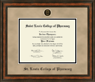 Saint Louis College of Pharmacy Diploma Frame - Heirloom Edition Diploma Frame in Ashford