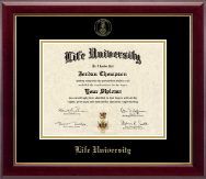 Life University Diploma Frame - Gold Embossed Diploma Frame in Gallery