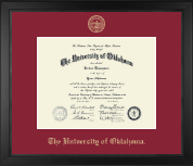 The University of Oklahoma Diploma Frame - Gold Embossed Diploma Frame in Arena