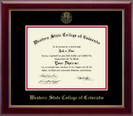 Western State College of Colorado Diploma Frame - Gold Embossed Diploma Frame in Gallery