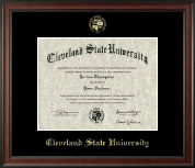 Cleveland State University Diploma Frame - Gold Embossed Diploma Frame in Studio