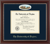 University of Dayton Diploma Frame - Campus Cameo Diploma Frame in Chateau