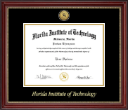 Florida Institute of Technology Diploma Frame - Gold Engraved Medallion Diploma Frame in Kensington Gold