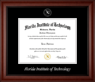 Florida Institute of Technology Diploma Frame - Silver Embossed Diploma Frame in Cambridge