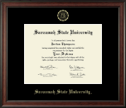 Savannah State University Diploma Frame - Gold Embossed Diploma Frame in Studio