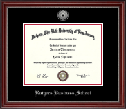Rutgers University Diploma Frame - Silver Engraved Diploma Frame in Kensington Silver