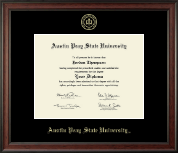 Austin Peay State University Diploma Frame - Gold Embossed Diploma Frame in Studio
