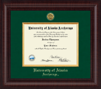 University of Alaska Anchorage Diploma Frame - Presidential Gold Engraved Diploma Frame in Premier