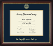 Goldey-Beacom College Diploma Frame - Gold Embossed Diploma Frame in Regency Gold
