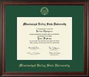 Mississippi Valley State University Diploma Frame - Gold Embossed Diploma Frame in Studio